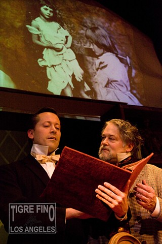 A play about a fictional meeting between Charles Dickens and Lewis Carroll. Photographs by Tiger Munson