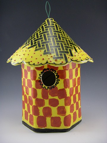 Birdhouses in clay