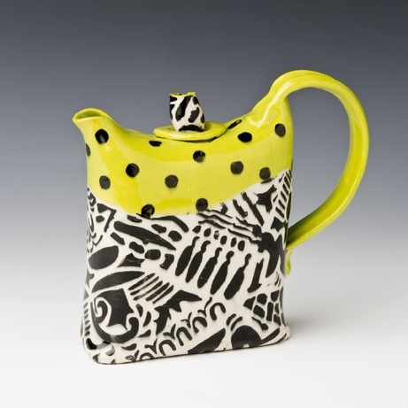 Af tex teapot series, yellow and black