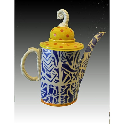 Af tex teapot, blue,,orange and yellow sold, but replicapble