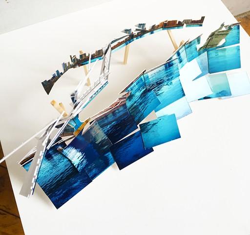 Photocollage, architecture, model, new york, spanish