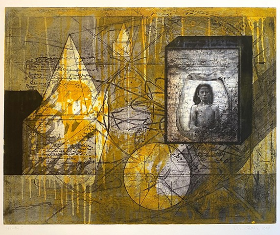 Habitus 1, the Journey Inside, etching and collagraph