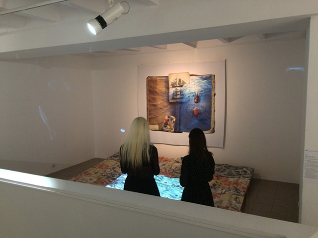 Installation View at Kobro Gallery Conversations between Rees, Hevelius and my Grandfather