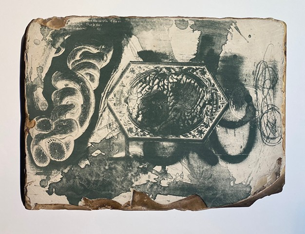 second try.. inkjet and stone lithography