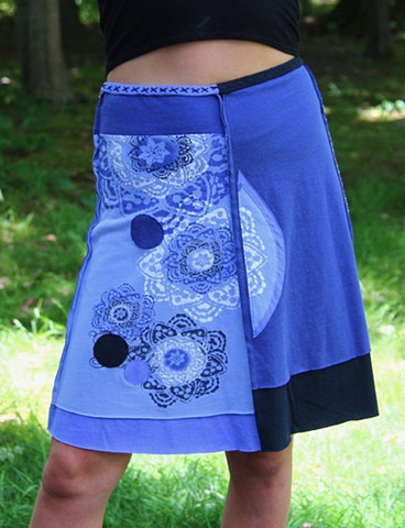 Recycled  t-shirt skirts unique one of a kind handmade