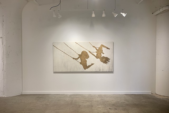 "Installation of ""Swing Silhouettes"""