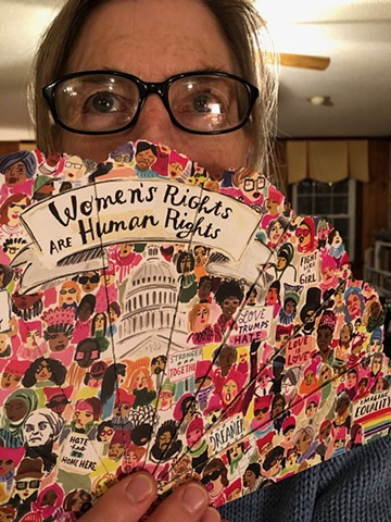 Women's Rights Fan - gift from Barbara Stone