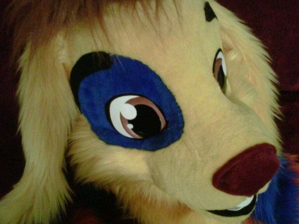 close up of facial detailing