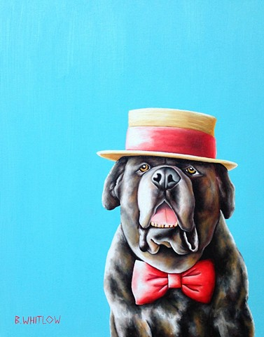 English mastiff whimsical pet portrait