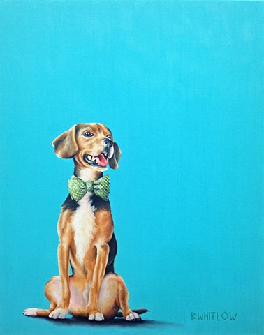 """In hunting it's all about the chase.  In love it's all about the catch.  The game is afoot!"" - Roosevelt.  Whimsical beagle pet portrait by Beth Whitlow"