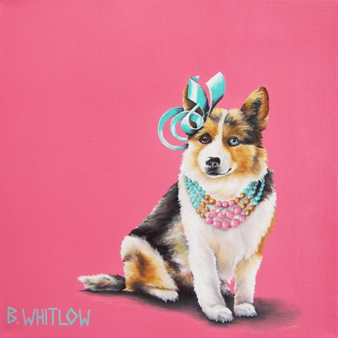 "Corgi mix pet portrait by Beth Whitlow dog portrait ""Be proud darlings! Love those who love you back."" - Biscuit"