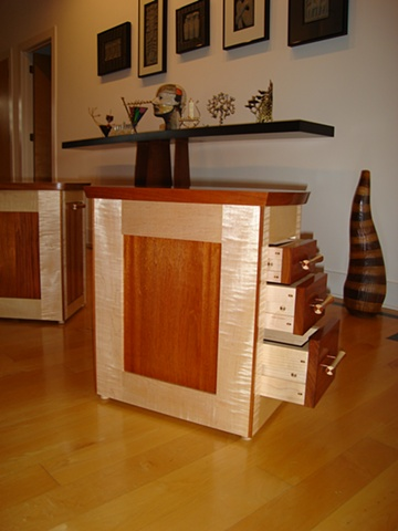 custom end tables with drawers and tray tables