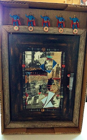 Unusual themed cabinet based on secrets and superman appear in the book 500 Cabinets published by Lark Books