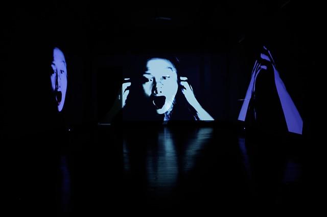 Eclipsing Face (Three Walls)