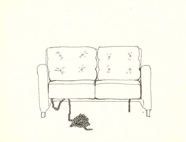 chains secret couch drawing sadomasochism erotic eroticism Robyn LeRoy-Evans