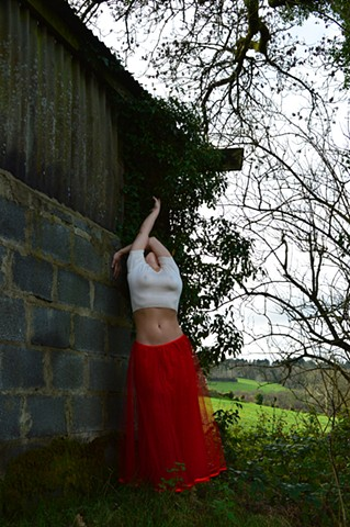 Robyn LeRoy-Evans photography artist art 2013 Wales red skirt