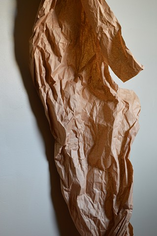 photograph of close-up of brown paper by Robyn LeRoy-Evans