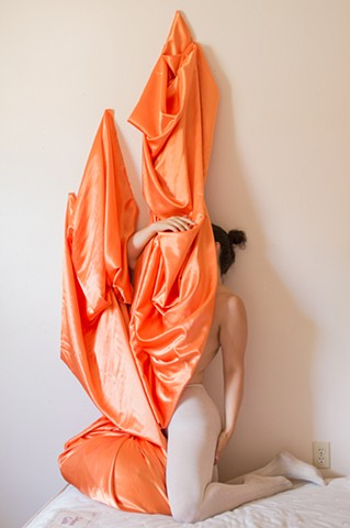 robyn leroy-evans artist motherhood art new orleans photography sculpture installation fabric drapery a growing dance
