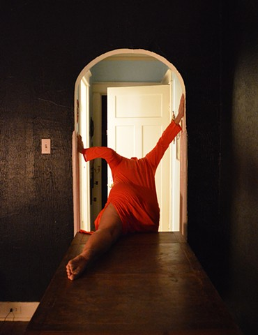photograph of woman body dress interior house escape by Robyn LeRoy-Evans