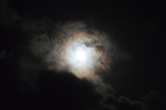 photograph of moon night sky clouds by Robyn LeRoy-Evans
