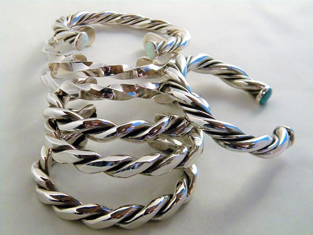 various silver twistd