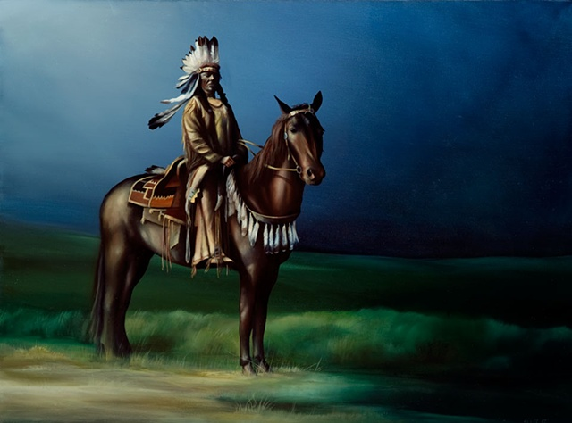 indian oil painting Arapaho