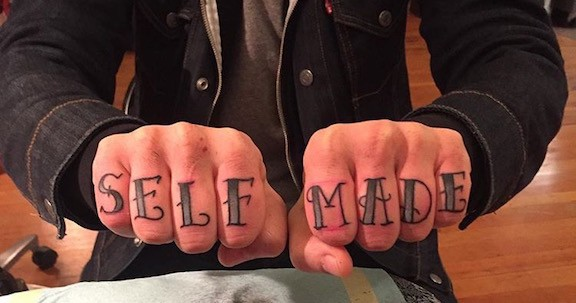Traditional self made knuckle tattoo made at Historic Tattoo, Portland, Oregon