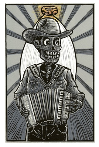 Accordionista Frijolero, (Beaner Accordionist)