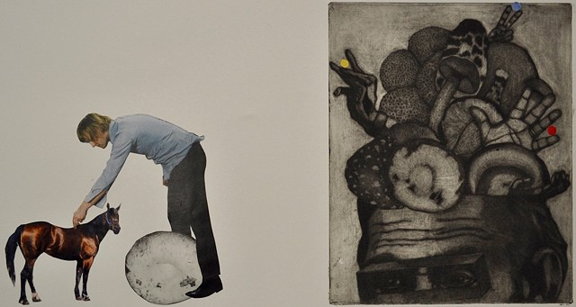 Student Work Class: Advanced Printmaking - Intaglio Media: Mock Mezzotint  Project: Mixed Media  Size: 10 in. x 17 in.