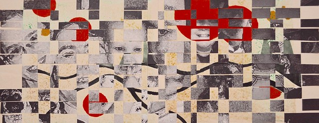 Student Work Class: Advanced Printmaking  Media: Photographic and Monotype Project: Two techniques Combination   Size: 16 in. x 30 in.
