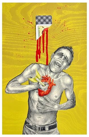 Por Ti, Me Hiero el Corazon, y el Corazon Llora Sangre  Por Tu Querer!