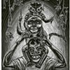 Familia Luchona  (The Striving Family) Linocut 2010 Print/Image size: 9 in. x 12 in. Paper size: 22 in. x 15 in.