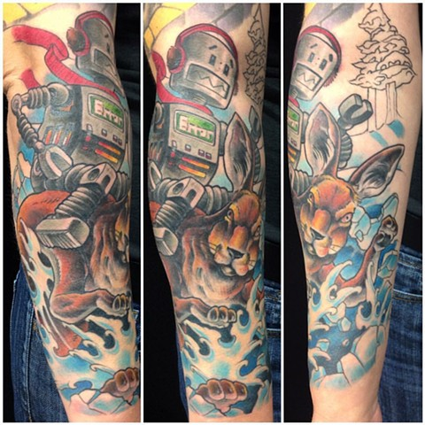Colour half sleeve