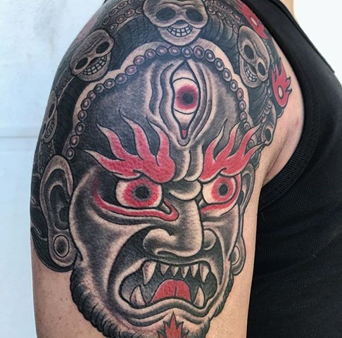 mask tattoo strange world tattoo calgary tattoo artist canada