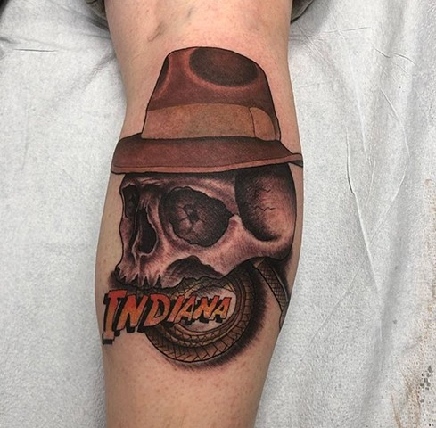 Indiana Jones tattoo Strange World Tattoo Calgary Alberta
