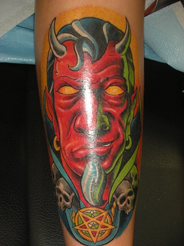 Tattoo devil head