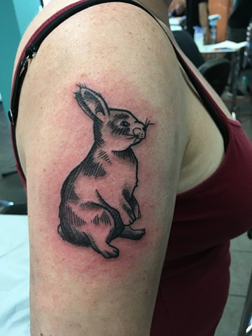 rabbit tattoo strange world tattoo calgary