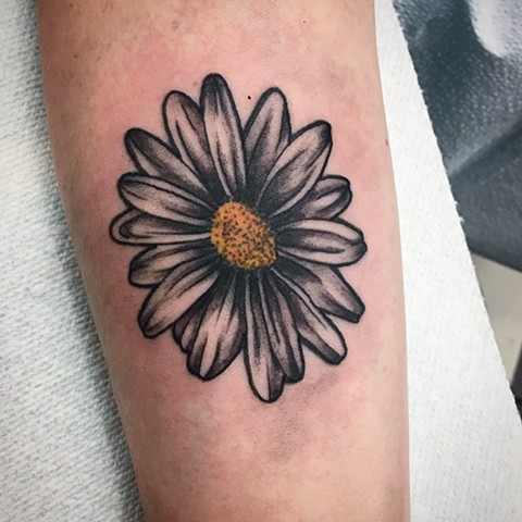 pretty daisy tattoo strange world tattoo