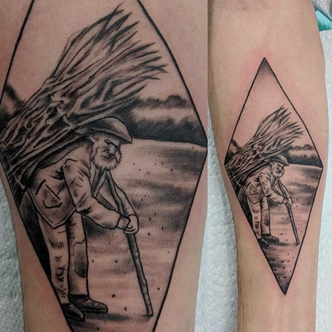 black and grey tattoo calgary