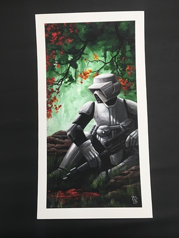 Star Wars art- stormtrooper print