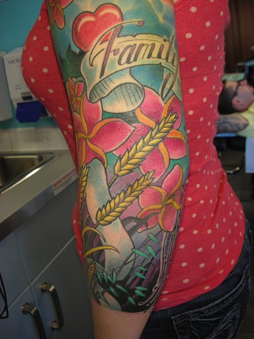 Tattoo-colour sleeve