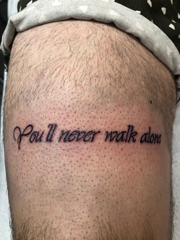 script on upper thigh