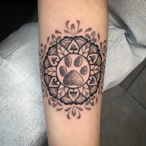 mandala dot work tattoo at strange world tattoo