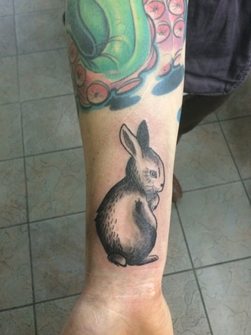 bunny tattoo at strange world tattoo