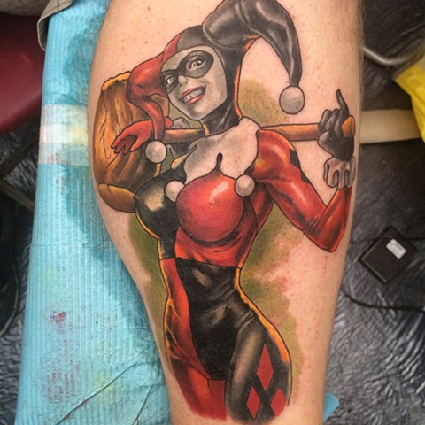 Tattoo of Harley Quinn