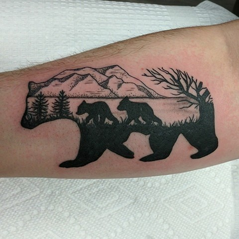 bear tattoo strange world tattoo in calgary
