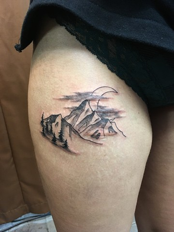 mountain tattoo Calgary, Alberta Strange World Tattoo
