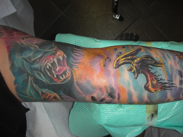 Tattoo colour sleeve
