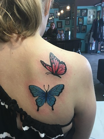 butterfly tattoos at strange world tattoo in calgary, alberta