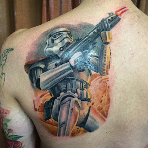 Star Wars tattoo stormtrooper